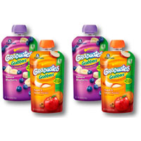 Save $1 on any four pouches of Gerber Graduates Grabbers