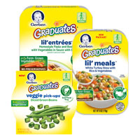 Save $1 on any three Gerber Graduates Meals or Sides