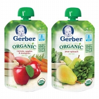 Save $2.50 on 8 Gerber Organic Pouches
