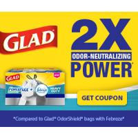 Save $1 on a box of Glad ForceFlex or OdorShield Trash Bags