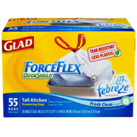 Save $1 on any box of Glad ForceFlex or OdorShield Trash Bags