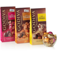 Print a coupon for $1 off any two bags of Godiva Chocolate