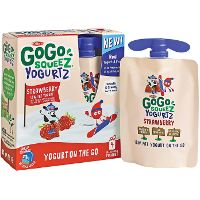Print a coupon for $0.75 off any GoGo SqueeZ Yogurt product