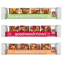 Save $0.50 on any two goodnessknows Snack Squares Packs