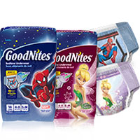 Save $2 on one package of Pull-Ups or Goodnites Nighttime Pants or Bed Mats
