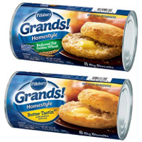 Print a coupon for $0.30 off two Pillsbury Refrigerated Grands! Biscuits
