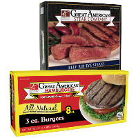 Print a coupon for $0.50 off any Great American Hamburger or Great American Steak product