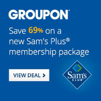 Save 69% on Groupon's new Sam's Plus Membership Package. Hurry, Limited Time Only!