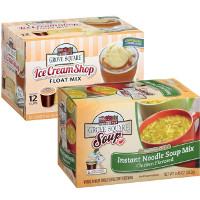 Save $1.50 on one box of Grove Square Ice Cream Float Mix Cups or Instant Soup Mix Cups