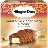 Get $1 off Haagen-Dazs Vanilla Milk Chocolate Almond Bars when you order groceries online with Instacart