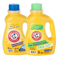 Print a coupon for $0.75 off any two Arm + Hammer Liquid Laundry Detergents