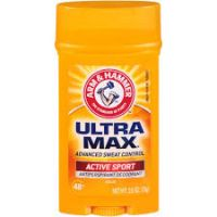 Print a coupon for $0.50 off one Arm + Hammer UltraMax Antiperspirant Deodorant product