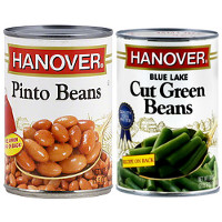 Save $1 on two cans of select Hanover Canned Beans or Canned Vegetables