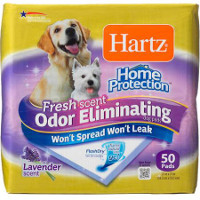 Save $2 on one package of Hartz Home Protection Odor Eliminating Dog Pads