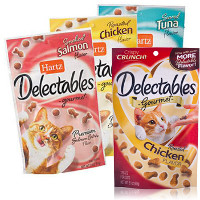 Save $1 on four or more bags of Hartz Delectables Cat Treats