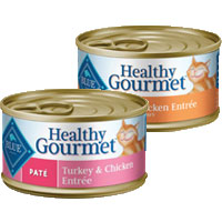 BOGO - Buy one can of BLUE Healthy Gourmet Cat Food, Get One FREE!