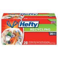 Print a coupon for $1 off Hefty Clear or Blue Recycling Bags