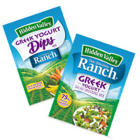 Save $1 on one packet of Hidden Valley Greek Yogurt Dips Mix or Greek Yogurt Salad Dressing Mix