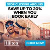 Save up to 20% at thousands of hotels worldwide, across 6 Hilton brands, when you book in advance. Book Now.