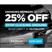 Treat yourself with a $50 daily credit when you book a stay with Hilton Hotels and Resorts