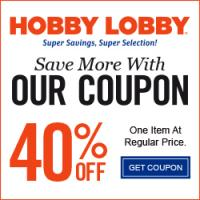 Get 40% off one regular item at HobbyLobby.com