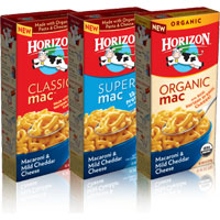 Save $0.75 on any two boxes of Horizon Organic Mac and Cheese