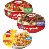 Print a coupon for $1.50 off three Hormel Compleats Microwave Meals