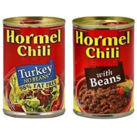 Save $0.55 on any two cans of Hormel Chili