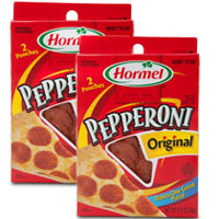 Print a coupon for $1 off any two packages of Hormel Pepperoni