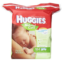 Save $2 on one package of Huggies Baby Wipes, 300 count or larger