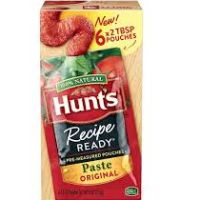 Print a coupon for $0.75 off Hunt's Recipe Ready Tomato Paste