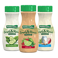 Print a coupon for $0.75 off a bottle of Hidden Valley Simply Ranch Dressing