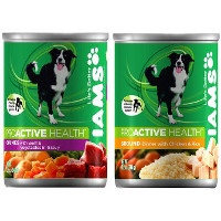 Print a coupon for $1 off any four IAMS ProActive Health Wet Dog Food
