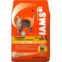 Save $2 on one bag of IAMS Dry Cat Food, 4.3 lbs or larger
