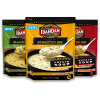 Print a coupon for $1 off any two Idahoan Steakhouse Soup Bowls or Pouches