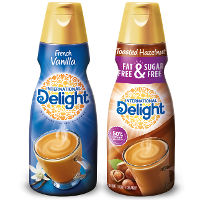 Save $1 on two bottles of International Delight Coffee Creamer