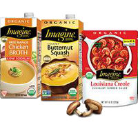 Print a coupon for $0.55 off one Imagine Soup, Broth, Cooking Stock or Simmer Sauce
