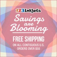 Save $10 off $10 purchase on ink and toner plus Free Shipping on orders $55 or more at 123injkets