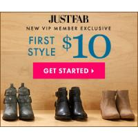 Get your first pair of shoes for just $10 at Just Fab