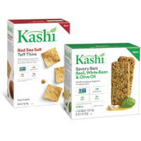 Print a coupon for $1 off Kashi Savory Bars or Teff Thin Crackers