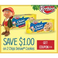 Save $1 on Hot Chocolate and two packages of Keebler Cookies