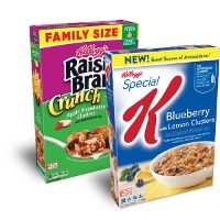 Print a coupon for $0.50 off Special K Blueberry with Lemon Clusters or Kellogg's Raisin Bran Crunch Cereal