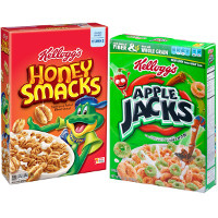 Print a coupon for $1 off any two boxes of Kellogg's Apple Jacks, Honey Smacks, Krave or Froot Loops Cereals