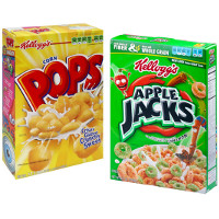 Print a coupon for $1 off any two boxes of Kellogg's Apple Jacks, Corn Pops, Froot Loops or Frosted Flakes Cereals