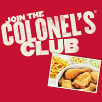 Join the Colonel's Club for Exclusive Offers and Deals Delivered to your inbox!