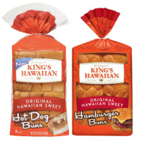 Save $1 on 2 King's Hawaiian Hamburger, Hot Dog, Deluxe Hamburger Buns or Mini Sub Rolls