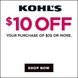 Get $10 off at Kohls.com