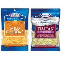 Print a coupon for $2 off two bags of Kraft Natural Shredded Cheese