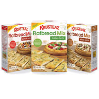 Save $0.75 on any package of Krusteaz Flatbread Mix