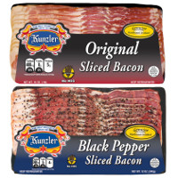 Print a coupon for $1.50 off two 16oz. packs of Kunzler Bacon